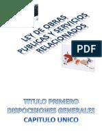 Diapositavas Ley de Obras Publicas y Servicios Relacionados