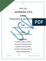 FABRICACION DE PLACAS DE FIBROCEMENTO Y SU APLICACIÓN AISLAMIENTO TERMICO Y ACUSTICO.docx