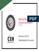 CEHv6 Module 67 Identifying the Terrorists
