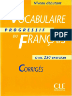 Claire Miquel - Vocabulaire Progressif du Francais (Niveau debutant) - Corriges.pdf