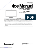 Panasonic Plasma tcp54g20 Factory Service Manual