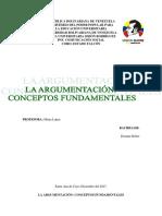 Unidad II La Argumentación Conceptos Funamentales