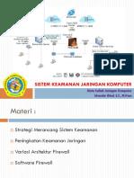 Bab XI - Sistem Keamanan Jaringan Komputer