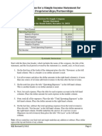 Simple Income Statement for Non-corp Businesses Form Instructions