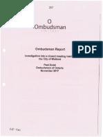 Ombudsman Report Welland 2017