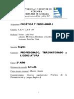 Fonetica y Fonologia I Ingles