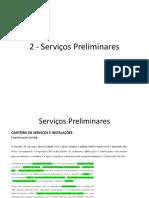 2 - Serviços Preliminares
