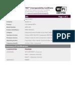 Certificate WFA72393