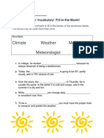 weather vocabulary assessments