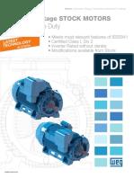 WEG Medium Voltage Stock Motors Tefc Severe Duty Mvstockcatalog Brochure English
