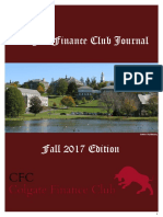 Colgate Finance Club Journal Fall 2017 Final