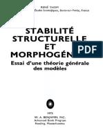 Stabilité Structurelle Et Morphogenèse (TdM)