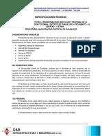 5.- ESPECIFICACIONES TECNICAS
