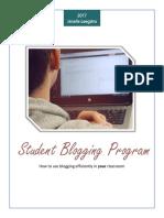 student blogging program booklet docx  1