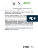 13-11-2017 MONTERÍA EN CONFERENCIA MUNDIAL DE CAMBIO CLIMÁTICO EN ALEMANIA
