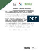 14-11-2017 EMPEZÓ A FUNCIONAR EL SEMÁFORO EN LOS GARZONES