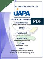Tarea 5 Derecho Administrativo 03-12-2017