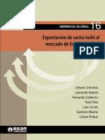 Gerencia Global 16_Exportación de Sacha Inchi a EEUU