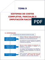 Tema 9 Sistemas de Costes Completos Parciales e Imputaci n Racional