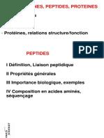 2009 P1 Biochimie Feugeas 2 Peptides