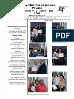 BOLETIM ROTARY PAVUNA 2009-10 nº 1 JULHO 2009