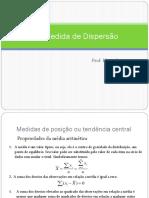 5 Medidas de Dispersão