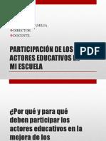 Participación de Los Actores Educativos en Mi Escuela