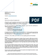 MLA letter