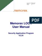 Memo Rex Lock User Manual v224-D