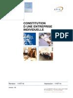 Constitution Duen Entreprise Individuelle Version Du 11-07-14