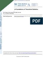 R Fisher 1922 Estimation