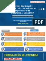 Gestión Municipal y Satisfacción Ciudadana en La Provincia