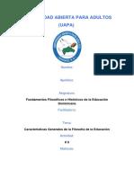 Fundamentos Filosóficos e Históricos de la Educación Dominicana