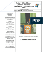 BOLETIM ROTARY PAVUNA 2009-10 nº 4 OUTUBRO 2009