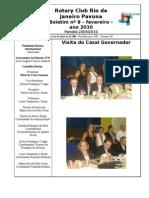 BOLETIM ROTARY PAVUNA 2009-10 nº 8 FEVEREIRO 2010
