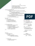 Biology Life Unit Outline, 2010-11