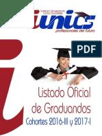 LISTADO OFICIAL DE GRADUANDOS