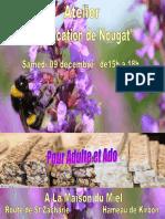 Atelier de Fabrication de Nougat 2 trets 9dec2017