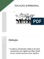 Comunicação Empresarial ( Material Para Avaliação)