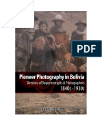 Daniel Buck - Pioneer Photography in Bolivia. Directory of Daguerreotypits and Photographers 1840s-1930s