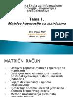 01. PREDAVANJE Pojam Matrice i Operacije Sa Matricama Nova (2)(2)