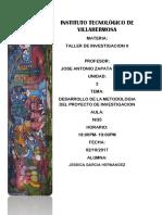 Desarrollo de La Metodologia Del Proyecto de Inv.
