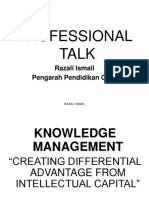 Professional Talk K-management