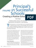 creating a positive school culture-the principals role