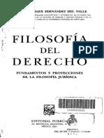 Filosofia Del Derecho Agustin Basave Fernandez Del Valle
