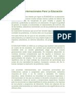Acuerdos Internacionales Para La Educacion