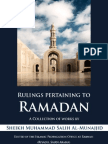 Rulings Pertaining to Ramadaan a Collection of Works by Sheikh Muhammad Salih Al Munajjid