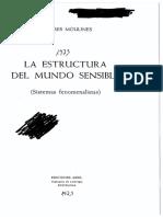 Moulines Ulises - La Estructura Del Mundo Sensible