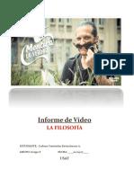 Informe de Vídeo - La Filosofía