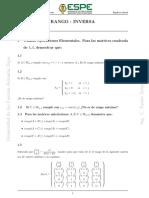Matrices Rango e Inversa